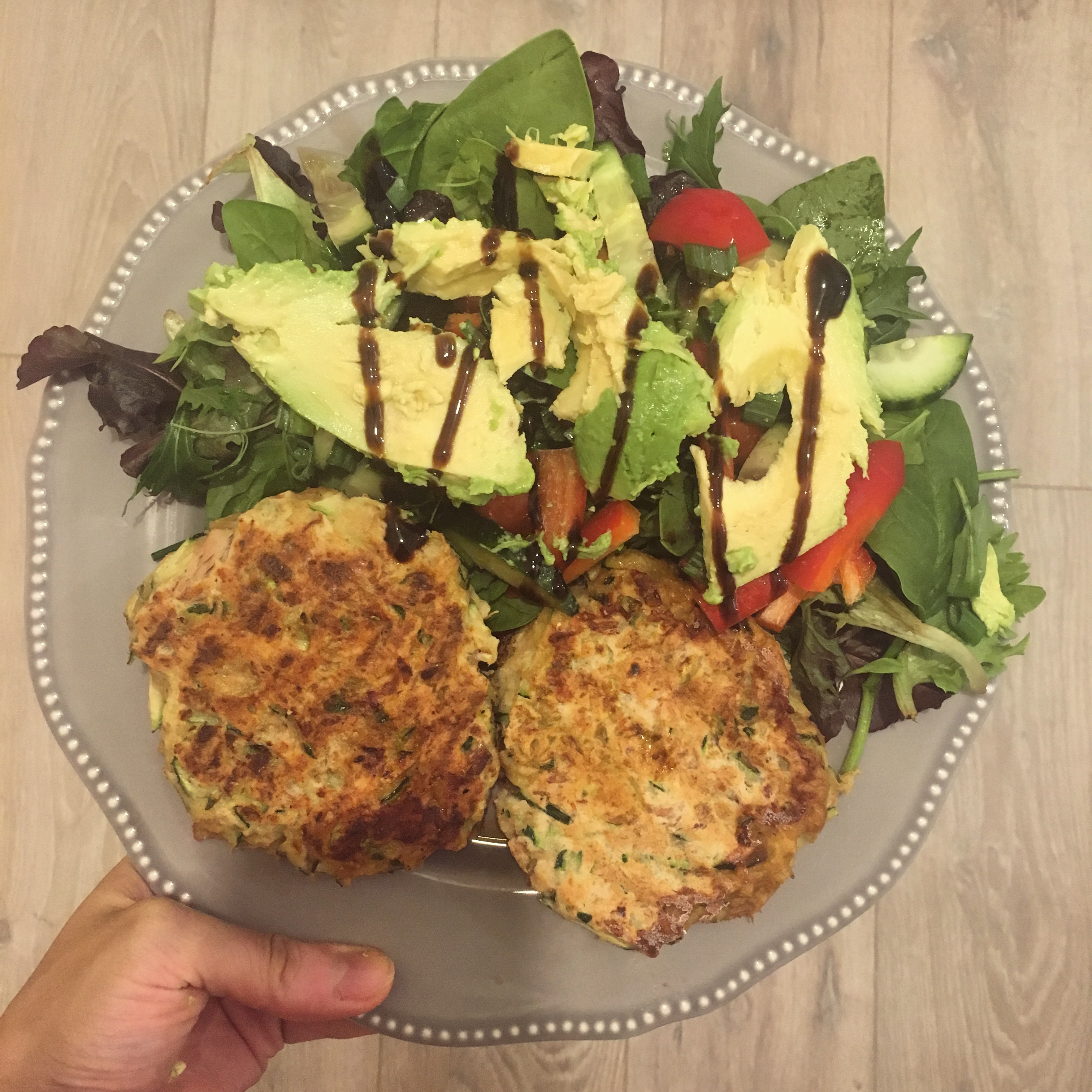 tuna courgette fritters